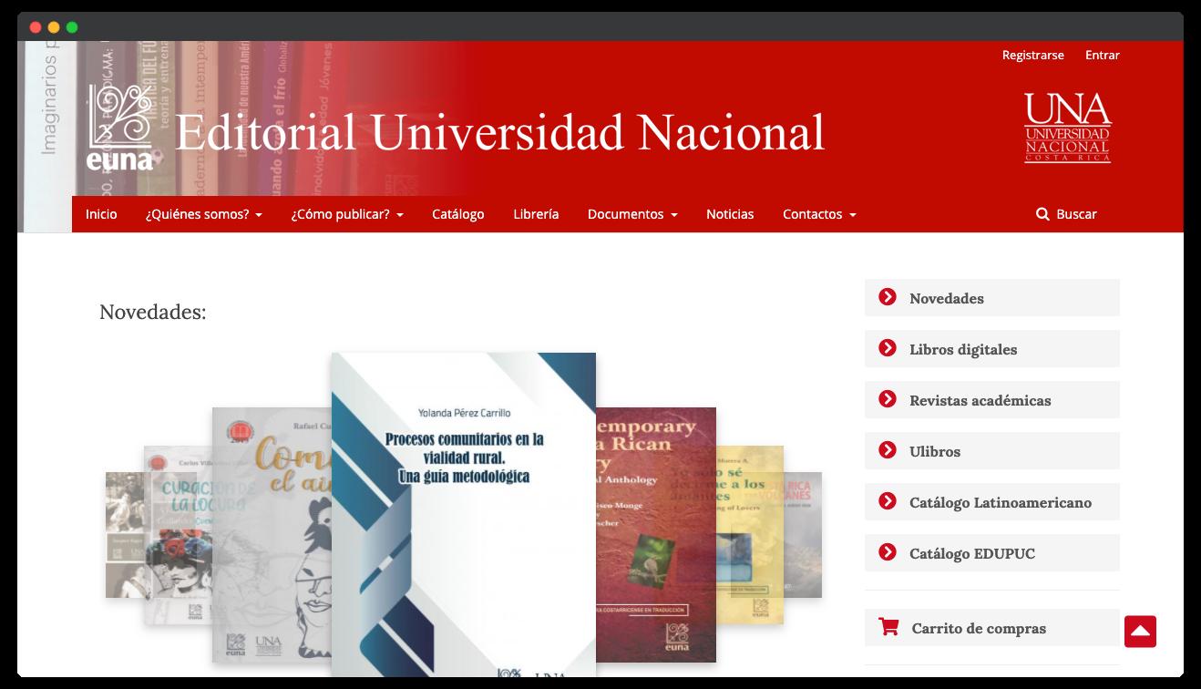 Sitio web EUNA