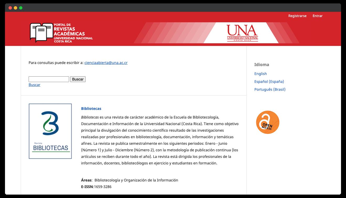 Sitio Web Portal de Revistas Académicas